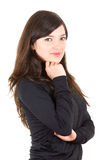 Portrait of beautiful young brunette girl posing Stock Photography