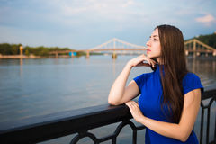 Portrait of beautiful young brunette Stock Photography