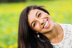 Portrait of a beautiful young brunette woman Royalty Free Stock Photography
