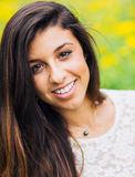 Portrait of a beautiful young brunette woman Royalty Free Stock Photos