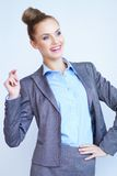 Portrait of a beautiful young business woman Stock Image