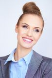 Portrait of a beautiful young business woman Royalty Free Stock Images