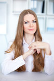 Portrait of beautiful young business woman Stock Image