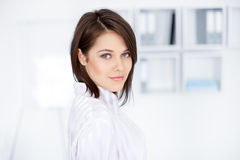 Portrait of beautiful young business woman Stock Images