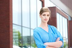 Portrait of a beautiful young business woman Royalty Free Stock Image