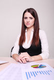 Portrait of a beautiful young business woman Royalty Free Stock Photography