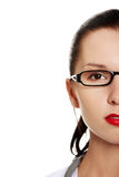 Portrait of beautiful young business woman. Royalty Free Stock Photography