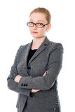 Portrait of beautiful young business woman Royalty Free Stock Photos