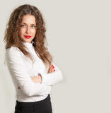 Portrait of a beautiful young business woman. Stock Image