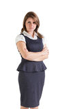 Portrait of a beautiful young businesswoman with arms crossed Stock Photos