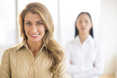 Portrait Of Beautiful Young Businesswoman At Office Stock Images