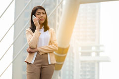 Portrait of beautiful young businesswoman Royalty Free Stock Photos