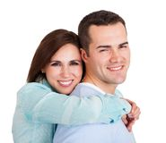 Portrait of beautiful young couple Stock Image