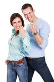 Portrait of beautiful young couple Stock Photography