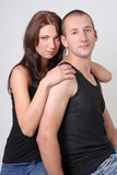 Portrait of a beautiful young couple Royalty Free Stock Photography
