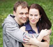 Portrait of beautiful young couple Royalty Free Stock Images