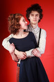 Portrait of a beautiful young couple love romance royalty free stock photo