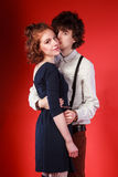Portrait of a beautiful young couple love romance royalty free stock image