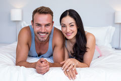 Portrait of beautiful young couple relaxing Royalty Free Stock Photo