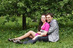 Portrait of beautiful young couple Stock Images