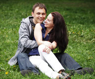 Portrait of beautiful young couple Royalty Free Stock Photos