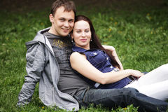 Portrait of beautiful young couple Royalty Free Stock Image
