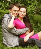 Portrait of beautiful young couple Stock Photos