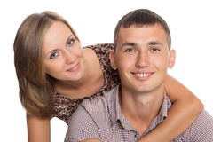 Portrait of a beautiful young couple Royalty Free Stock Images