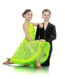 Portrait of beautiful young dancing couple Stock Photography