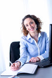 Portrait of a beautiful young executive woman Stock Images