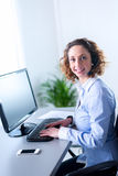 Portrait of a beautiful young executive woman Royalty Free Stock Image