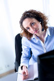 Portrait of a beautiful young executive woman Stock Image