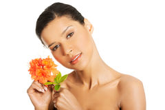 Portrait of beautiful young exotic woman Royalty Free Stock Photo
