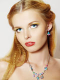 Portrait of beautiful young fashion model Royalty Free Stock Photo