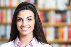 Portrait of beautiful young female student Stock Photos