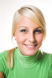 Portrait of beautiful young fit blond. Royalty Free Stock Image