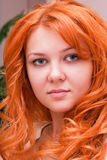 Portrait of a beautiful young ginger woman Stock Image