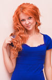 Portrait of a beautiful young ginger woman Royalty Free Stock Photo