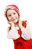 Portrait of the beautiful young girl royalty free stock photos