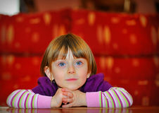 Portrait of beautiful young girl Royalty Free Stock Images