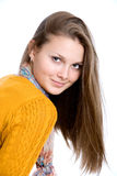 Portrait of a beautiful young girl Stock Photography