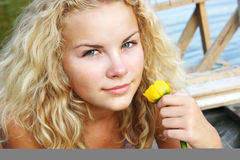 Portrait of young girl Stock Image