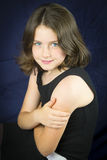 Portrait of beautiful young girl with blue eyes Royalty Free Stock Photography