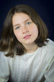 Portrait of beautiful young girl Royalty Free Stock Photo