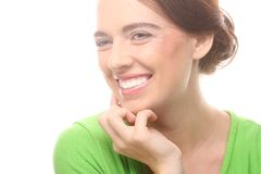 Portrait of beautiful young girl with clean skin Stock Photo