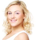 Portrait of beautiful young girl with clean skin Royalty Free Stock Photos
