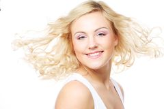 Portrait of beautiful young girl with clean skin Royalty Free Stock Images