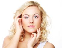 Portrait of beautiful young girl with clean skin Royalty Free Stock Photography