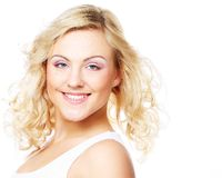 Portrait of beautiful young girl with clean skin Stock Images