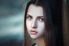 Portrait of a beautiful young girl closeup Royalty Free Stock Images